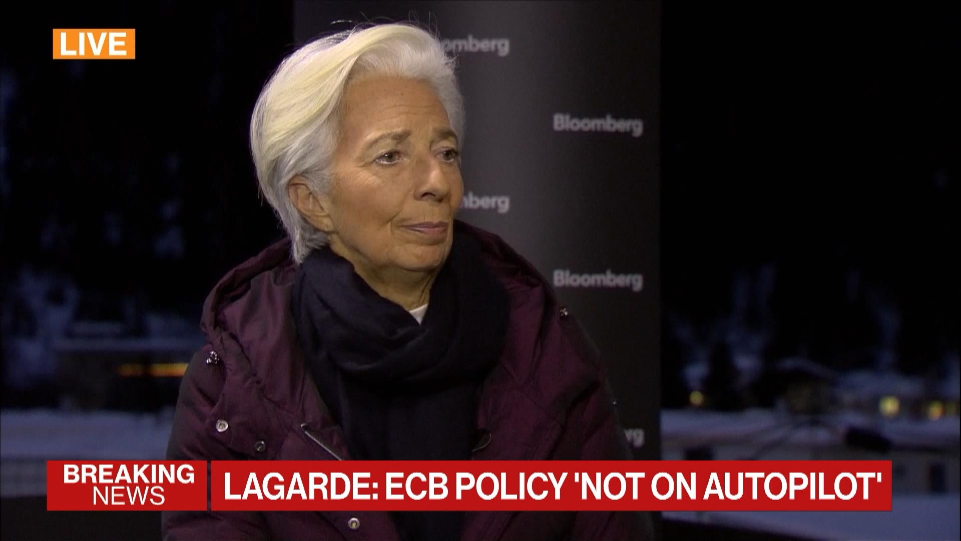 Davos: ECB President Christine Lagarde on Strategic Review, Climate Change, Policy Tools