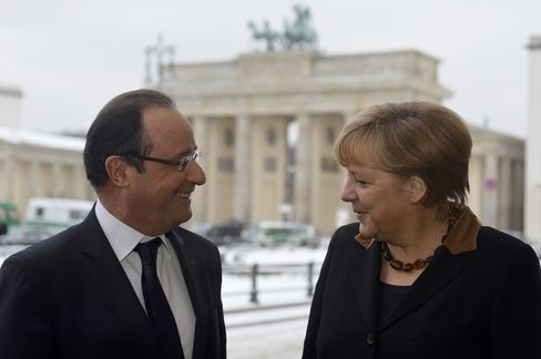 President Francois Hollande and Chancellor Angela Merkel