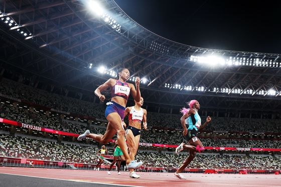 Track Star Allyson Felix Wins Olympic Medal in Her Own Shoe Line
