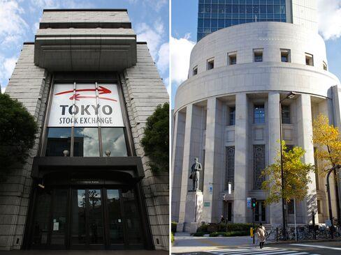 Tokyo Stock Exchange and the Osaka Securities Exchange