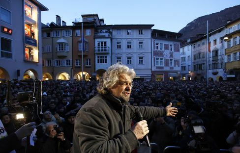 Leader of the Five Star Movement Beppe Grillo