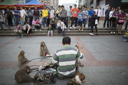 Street Performer In Guangzhou