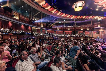 The Royal Theater is the main performance space and largest entertainment venue on the cruise liner. It can seat 1,380 guests. The current show: Grease, the Musical.