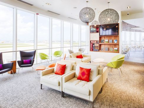 The American Express Centurion Lounge in Miami, one of seven locations—all in the U.S.