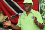 Former FIFA Vice President Jack Warner speaks at a political rally in Marabella, Trinidad and Tobago, on June 3, 2015. Indicted by the U.S. on charges of racketeering, wire fraud, and money laundering, Warner is listed as one of Interpol's most wanted persons.