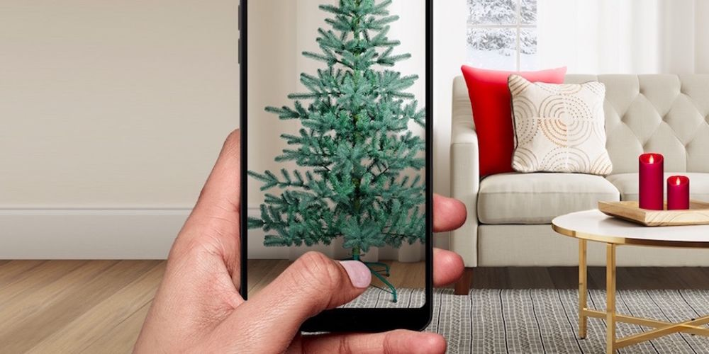Target's augmented reality Christmas tree shopping app.