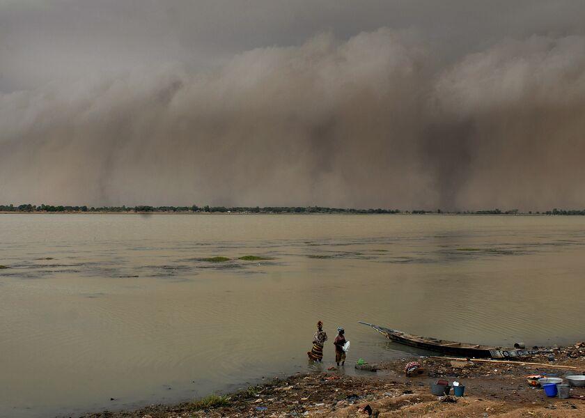 Illustration of Segou, Mali on July 15, 2007.