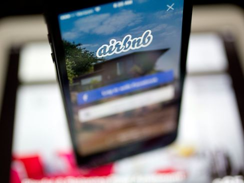 The Airbnb app is displayed on a mobile device.