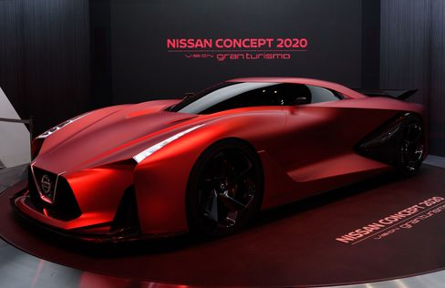 The Nissan Concept 2020 Vision Gran Turismo at the Tokyo Motor Show in 2015.