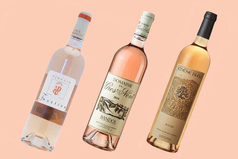 2013 Domaine Comte Abbatucci Cuvee Faustine Rosé Vieilles Vignes; 2014 Gros Noré Bandol Rosé; 2014 Chene Bleu Rosé