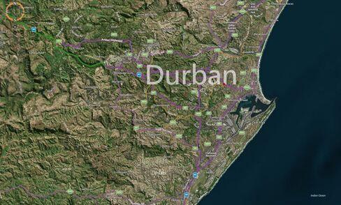 MAP: Durban