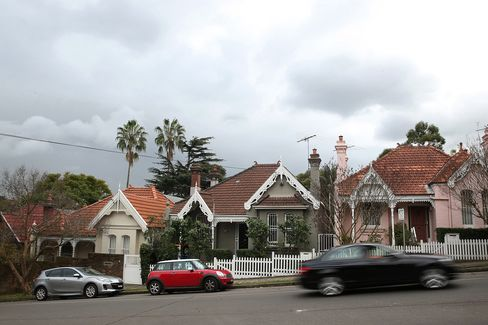 Houses stand in the suburb of Bellevue Hill in Sydney, Australia, on June 18.