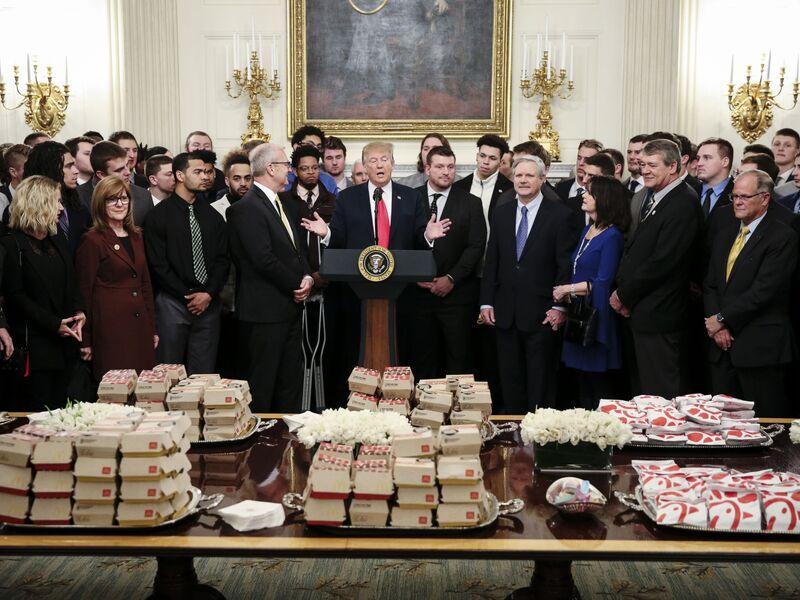 President Trump Hosts Football Champions North Dakota State At The White House