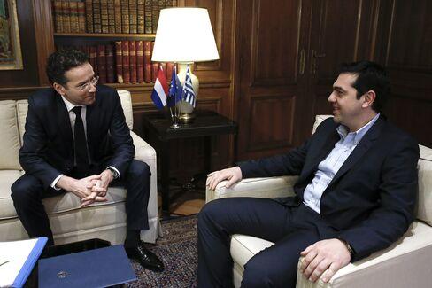 Jeroen Dijsselbloem And Alexis Tsipras Meeting