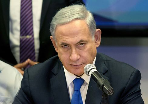 Israeli Prime Minister Benjamin Netanyahu attends a Likud party meeting in Or Yehuda near Tel Aviv, Israel, on March 16, 2015.