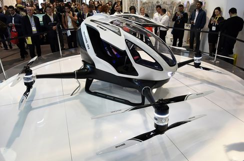 The EHang 184 passenger-carrying drone.