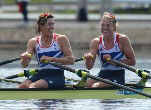 Anna Watkins and Katherine Grainger at 2012 London Olympics