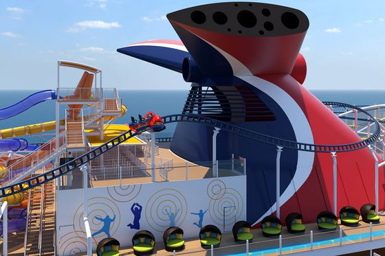 Carnival's Massive New Cruise Ship Braves Covid With a Roller Coaster