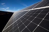 Photovoltaic cells are arranged on solar panels
