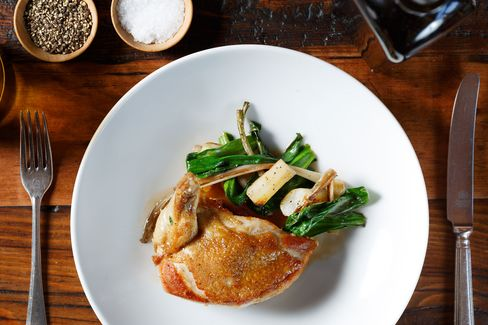 The restaurant serves such conventions as roast chicken with potatoes and ramps, but it makes them with care.
