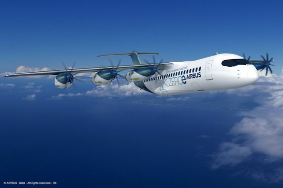 Airbus Turboprop Model Gaining Favor as First Hydrogen Plane