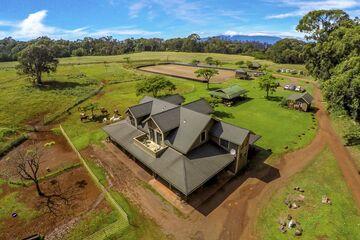 La propiedad está dispuesta en la actualidad como un rancho.