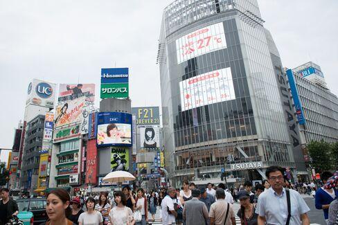 渋谷交差点での歩行者