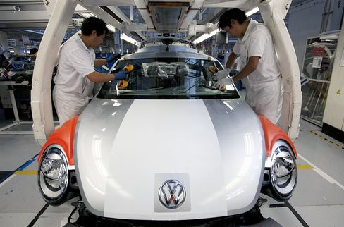 VW to BMW Plot $25 Billion Building Boom to Cut Euro Risk