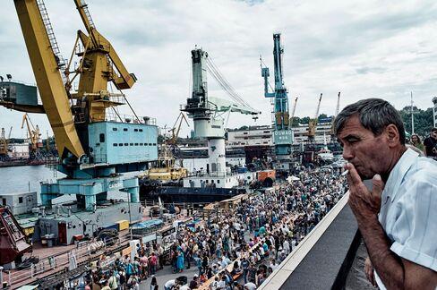 Far from the war zone, Odessa is Ukraine's busiest port.
