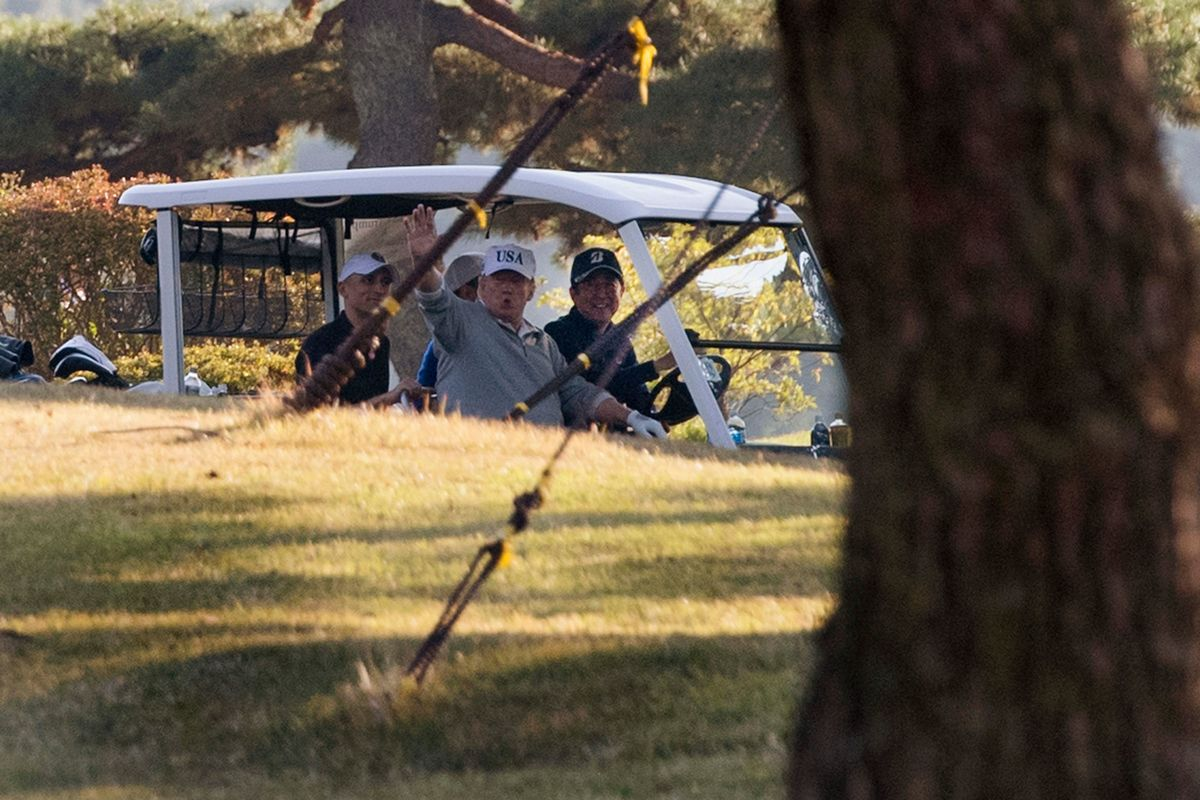 Golf Course Where Trump and Abe Are Set to Play Rattled By Quake
