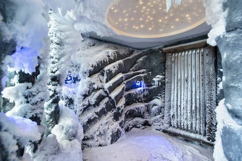 The Snow Paradise Room at Zurich's Dolder Grand.