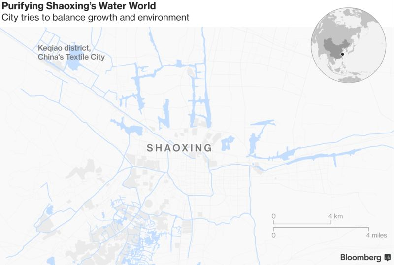 China Counts Costs Of Tackling Its Grave Pollution Problem - Shaoxing map