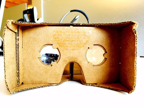 Google's Cardboard headset can be purchased for about $24 on Amazon, and supports all smartphones.