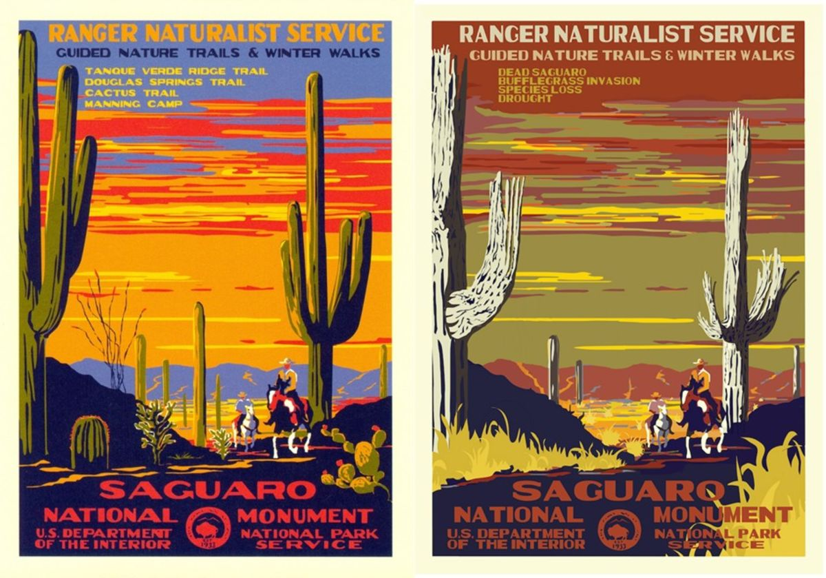 New Wpa Style Posters Show The Ravages Of Climate Change Bloomberg