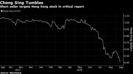 China Lender Sinks After Short Seller Says Shares Worth Zero