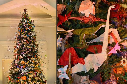 The 2015 Origami Tree at the American Museum of Natural History, New York