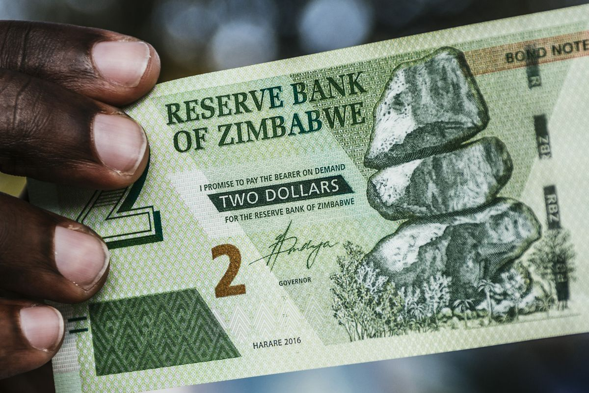 Zimbabwe Dollar Notes In November