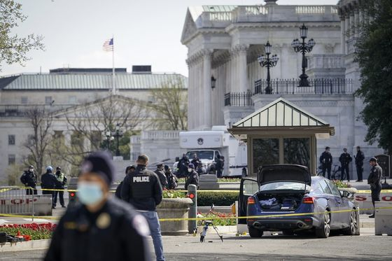 Capitol Police Officer Killed After Man Rammed Car at Checkpoint