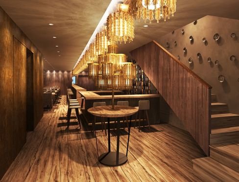An artist's rendering shows the design of Tokimeite, which is scheduled to open in London's Mayfair later this year.