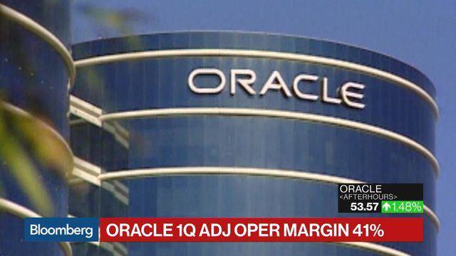 Bloomberg's Cory Johnson reports on Oracle Corp.'s first-quarter performance