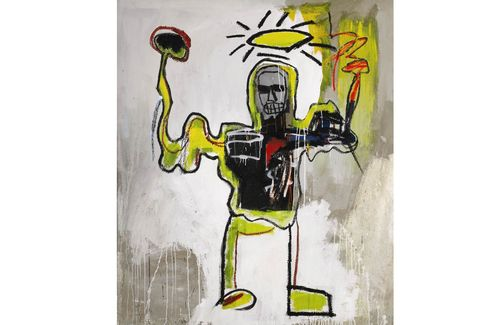 Jean-Michel Basquiat, Untitled (The Black Athlete) (1982).