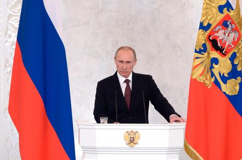Putin Says Russia Doesn't Want Ukraine Split After Crimea