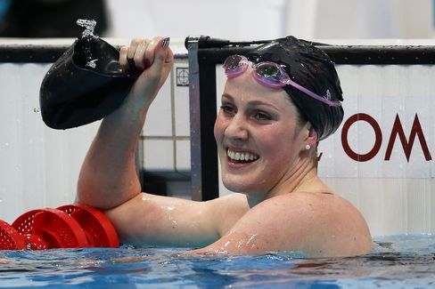 Swimmer Missy Franklin of the United States