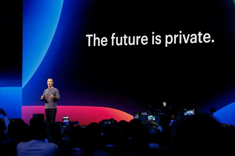 Facebook CEO Mark Zuckerberg introducesnew privacy features at the F8 Conference on April 30, 2019.