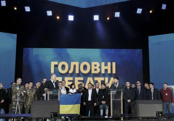 Ukrainian Presidential Candidates Clash in Bad-Tempered Debate