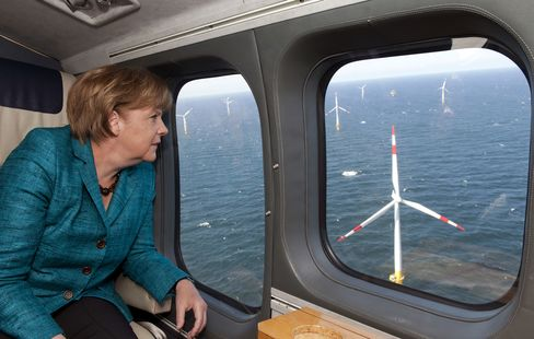 Merkel Offshore Wind-Power Dream Stalls as Vow Turns to Bluster