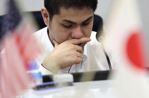 Yen Gains Versus Peers on Safety Bid Amid Europe, U.S. Concerns