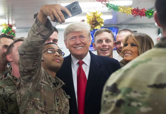 Trump Defends Syria Exit on First Visit to Troops in Combat Zone