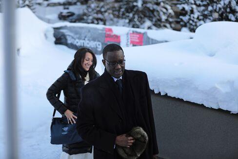 Tidjane Thiam at Davos on Jan. 17