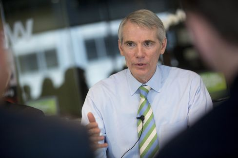 Senator Rob Portman speaks at a Bloomberg News event on July 10, 2014